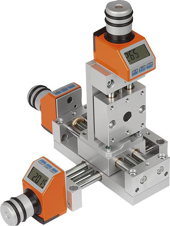 Positioning stages, short with electronic position indicator - Positioning systems