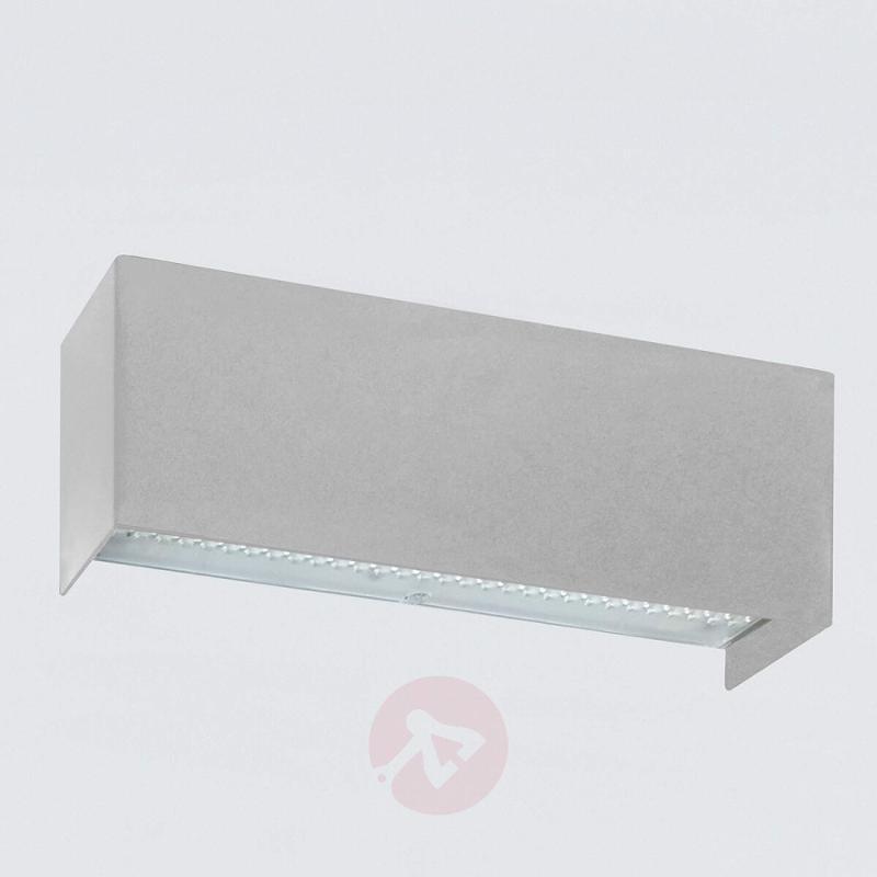 Grey LED wall lamp Simply LED, 30 cm - design-hotel-lighting