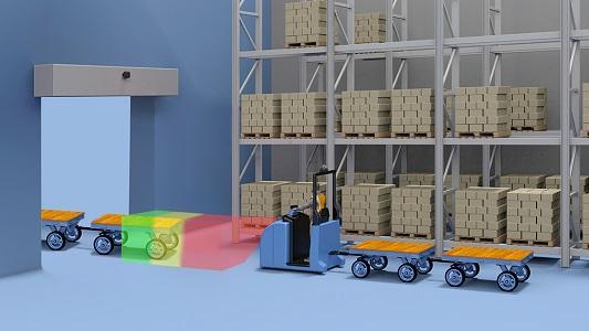 Rückraum-Überwachung RAM-107 - Sicherheit für Fußgänger bei Rückwärtsfahrt von Flurförderzeugen