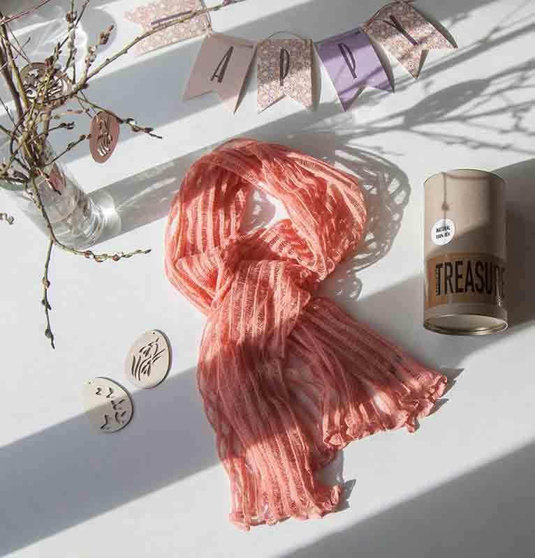 100% Linen Scarf / Poncho / Pareo  - linen scarf