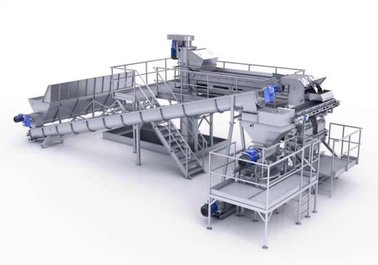 Sekcja krojenia/instalacja mieląca (młynki i rozdrabniacze) - Młynki B&P mają zastosowanie w przemyśle spożywczym do przerobu owoców i warzyw.