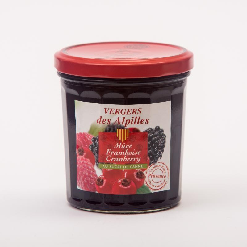 Vergers des Alpilles - Mûre / Framboise / Cranberry - Confitures au sucre de canne