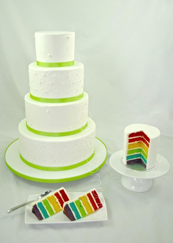 Gâteaux et Pièces Montées sur-mesure - Gâteau Mariage Drapeau Gay