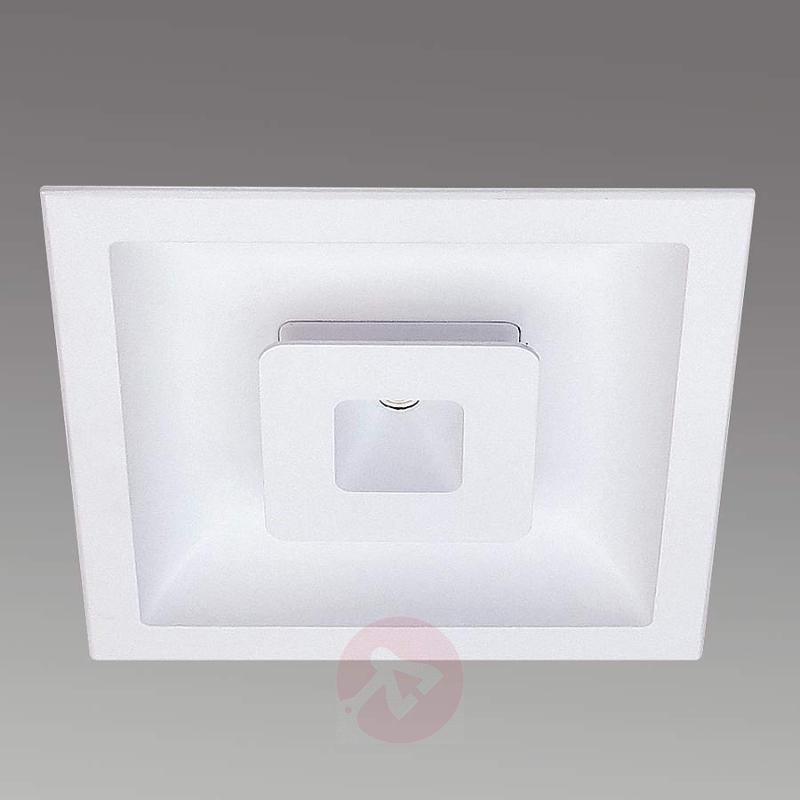 LED recessed light Met, square - design-hotel-lighting