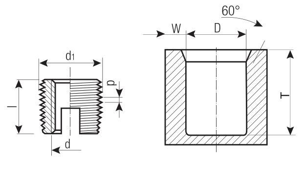 Thread inserts - FASTEKS® thread inserts - with cutting slots