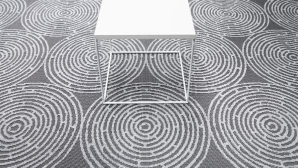 Vulcano 600 - Wall-to-wall Carpet - Graphic refinement with a marked structure.