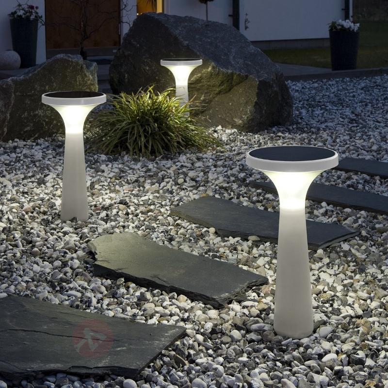 Lampe solaire New Assisi Aton 450 blanche - Lampes décoratives d'extérieur