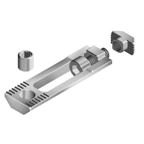 Milling connector for aluminium profile assembly - To connect two aluminum profiles fast and solid assembly without machining
