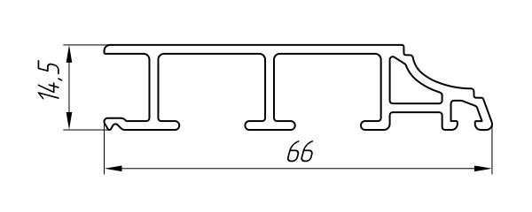 Aluminum Sump Profile Ат-6404 - Construction aluminum profile