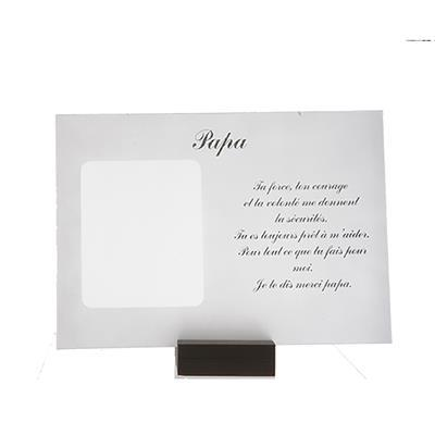 """POEM ON GLASS + PICTURE """"Papa"""" - Item No. 0870021P"""