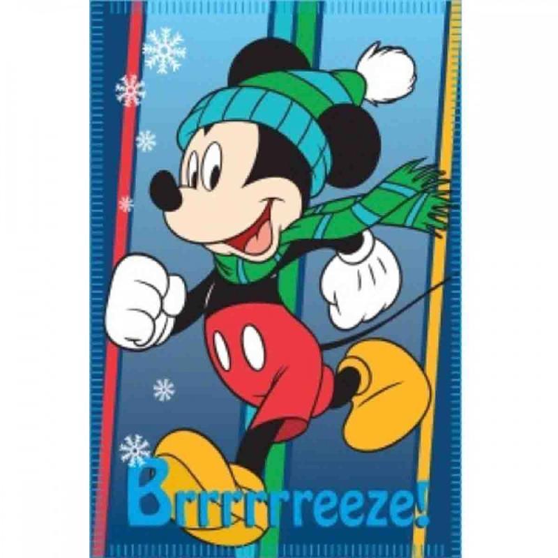6x Plaids polaires Mickey 140x100 - Linge de maison