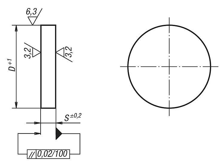 Plateau circulaire Acier - Plateaux circulaires