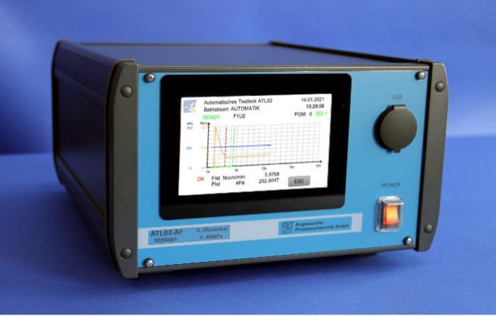 Test automatique de fuite ATL02 - Contrôleur de débit avec surveillance de la pression