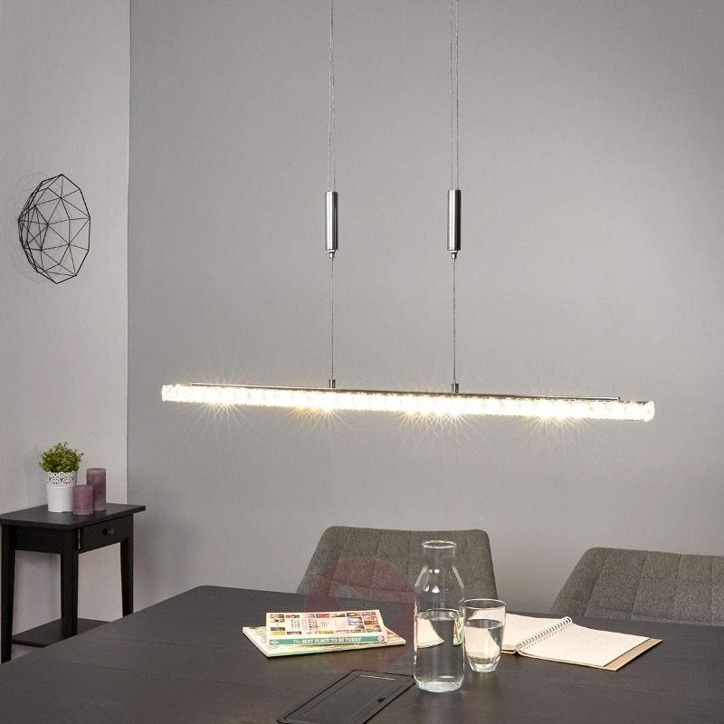 Height-adjustable LED crystal pendant lamp Sesilia - Pendant Lighting