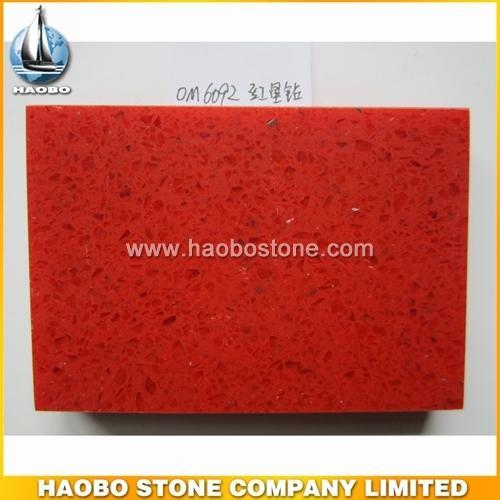 HB6092-red quartz - Quartz Slabs