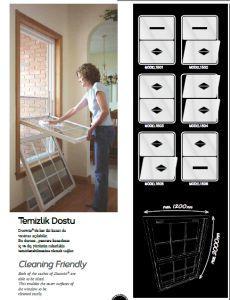 Aluminium Sash window system - Manuel sash window system
