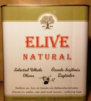 Elive Green Olives - 10 Kg Tin