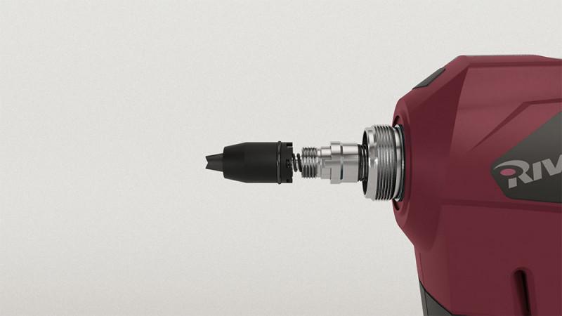 RivdomZERO 12V - Riveteuse sur batterie  pour des rivets aveugles jusqu'à 5,0 mm - tous matériaux