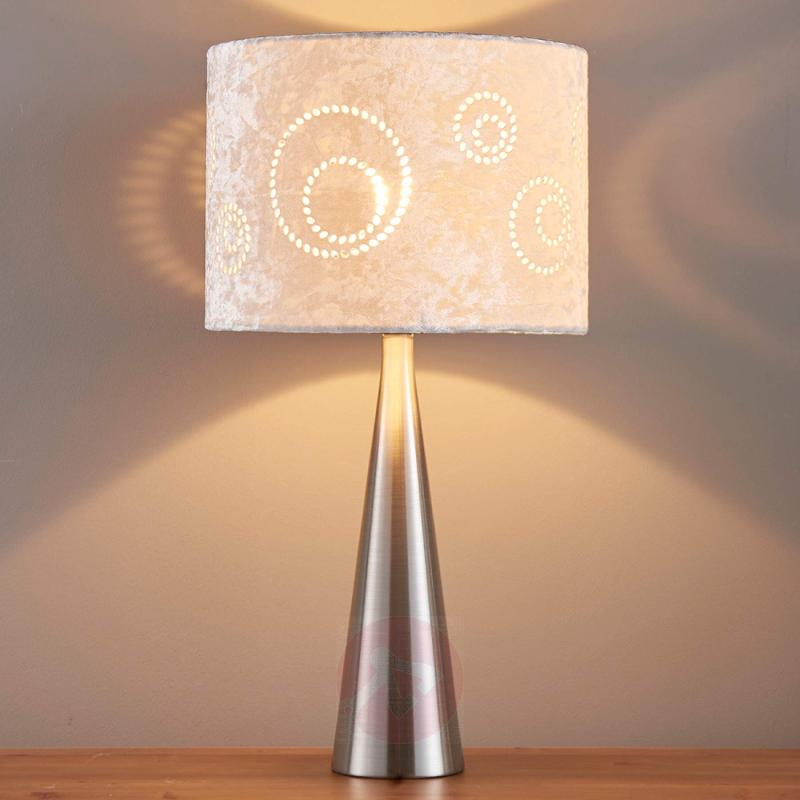 Lenna - fabric table lamp with velvet lampshade - indoor-lighting