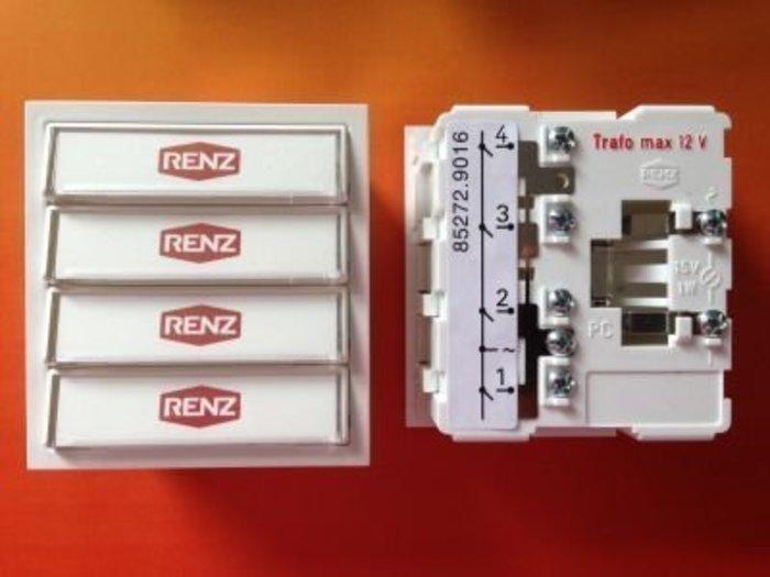 Klingelmodul Renz mit 4 Klingeltsten 97-9-85272 weiß - null