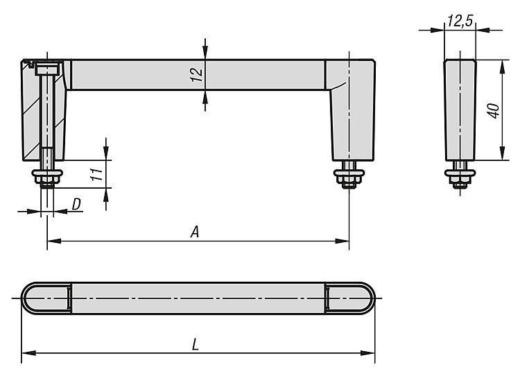 Poignées de manutention - Poignées de manutention, poignées tubulaires et poignées alcôve