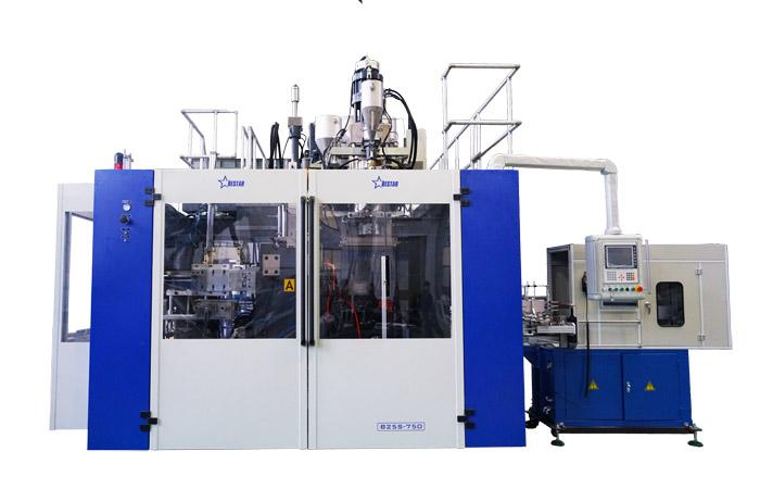 Chemical Stacking Barrels Blowing Machine Cases - Blow Molding Machine B25S-750 Co-Extrusion 3-layer With In Mold Labeling...