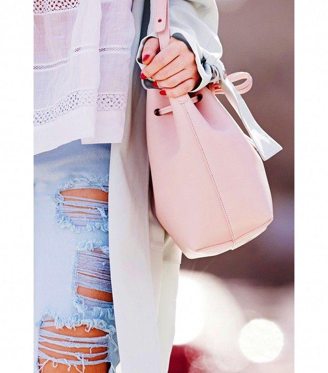 sac seau en cuir - Bucket bag