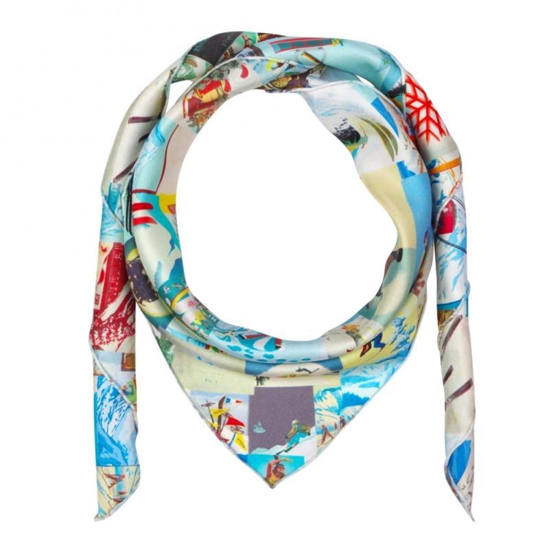 Printed silk twill scarf - Pure Silk Fabrics
