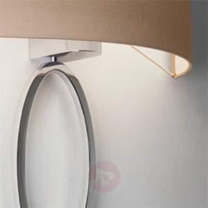 Elegant wall light Valbonne in chrome and beige - Wall Lights