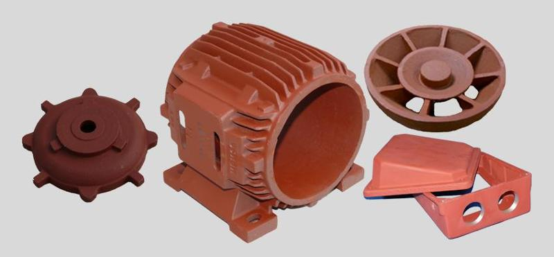 Components for electric motors - Components made of cast-iron