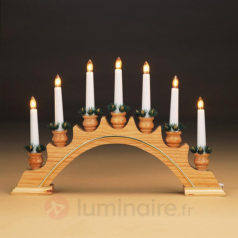 Chandelier en bois Goldleiste - Bougeoirs et chandeliers électriques