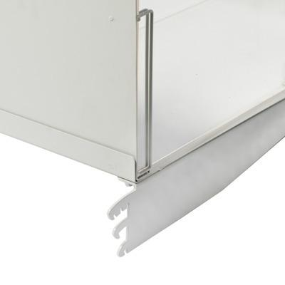 Metal supermarket shelves for display and store -