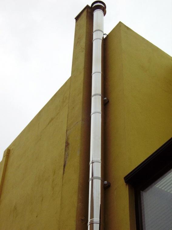 Дымоход из нержавеющей стали  - AISI304 от 80мм-1000мм