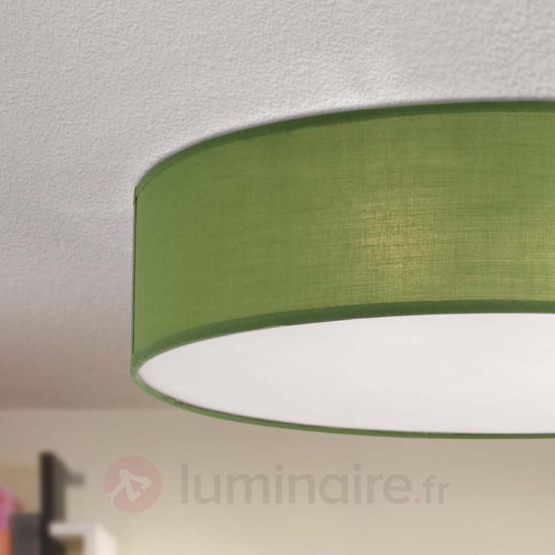 Plafonnier textile vert Jitendra - Plafonniers en tissu