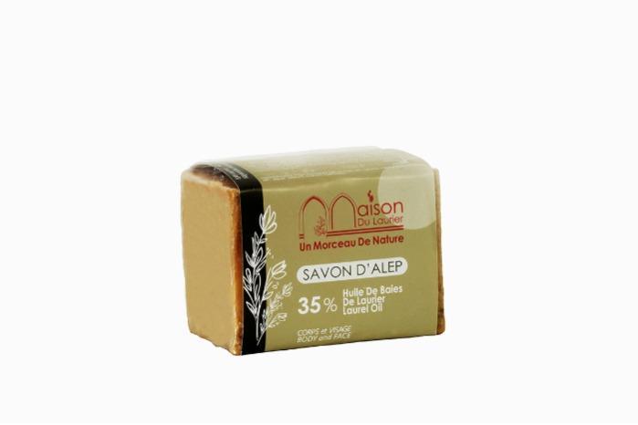 Savon D'Alep  - Savon D'Alep 200gr-35% Huile de baie de laurier
