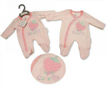 Premature Baby Girls Velour All in One - Super Cute -