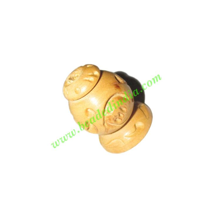 Natural Color Wooden Beads, size 16x21mm, weight approx 1.94 - Natural Color Wooden Beads, size 16x21mm, weight approx 1.94 grams