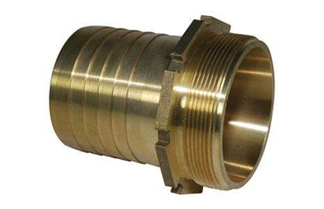 Tank couplings - Grooving nozzle with male thread for binding clamp