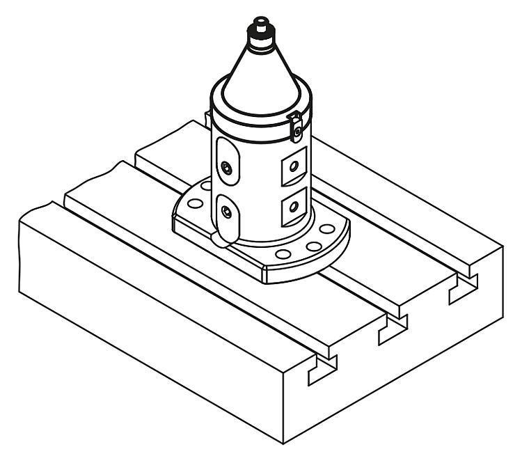 Adaptateur Plangrip 5 axes UNI lock à pas de 80 mm - UNI lock Pas de 80 mm