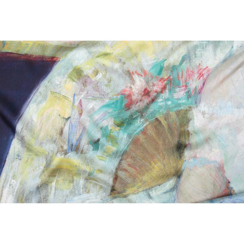 Carré En Twill De Soie Imprimé Mary Cassatt The Loge - Dorure - LES GRANDS PEINTRES