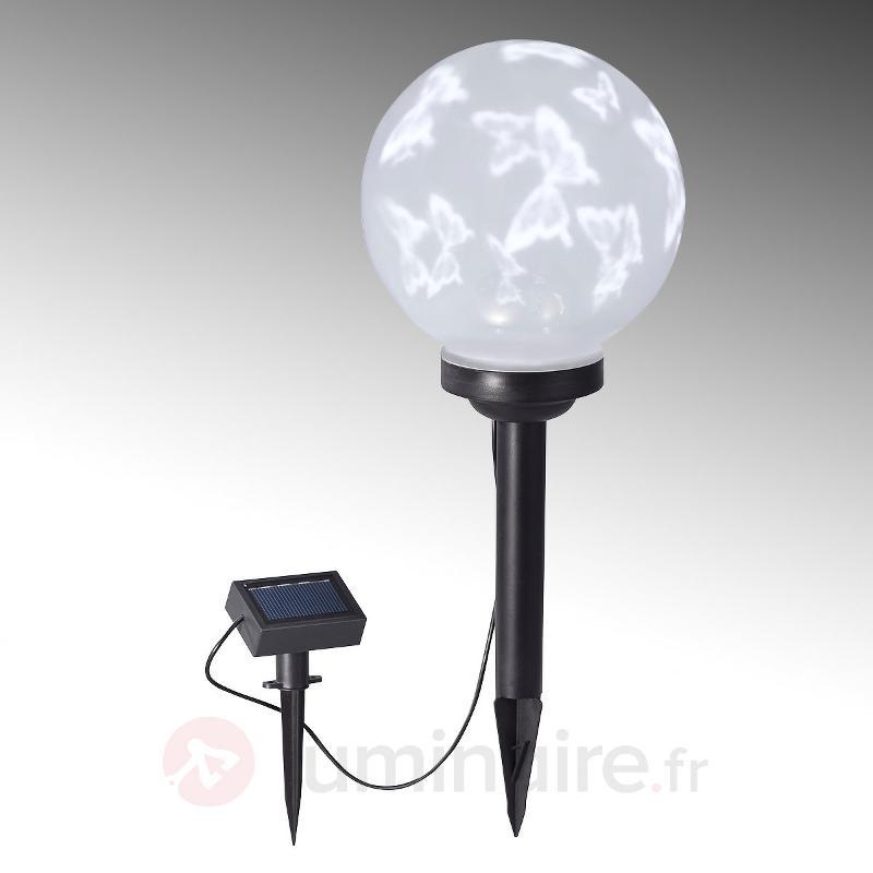 Lampe solaire LED Kira avec papillons - Lampes solaires décoratives