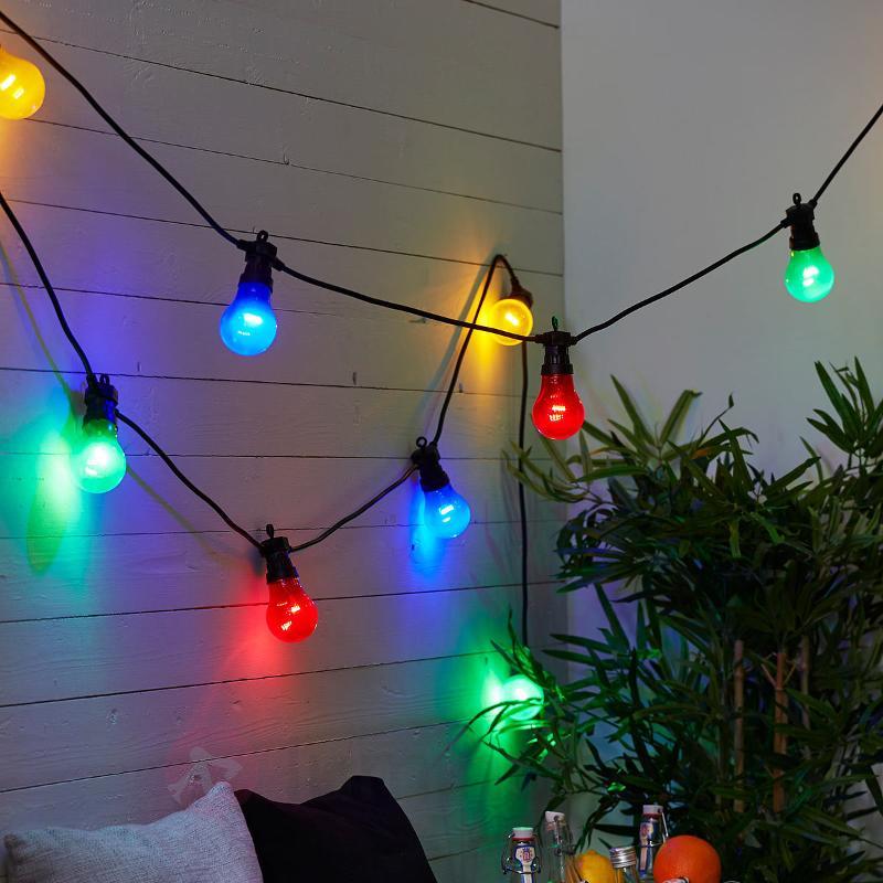Guirl. lumin. LED Circus mult. à 10 flammes - Guirlandes lumineuses LED d'extérieur