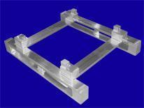 Untergestell für Müllcontainer - Hurtz Aluminium Sonderkonstruktionen