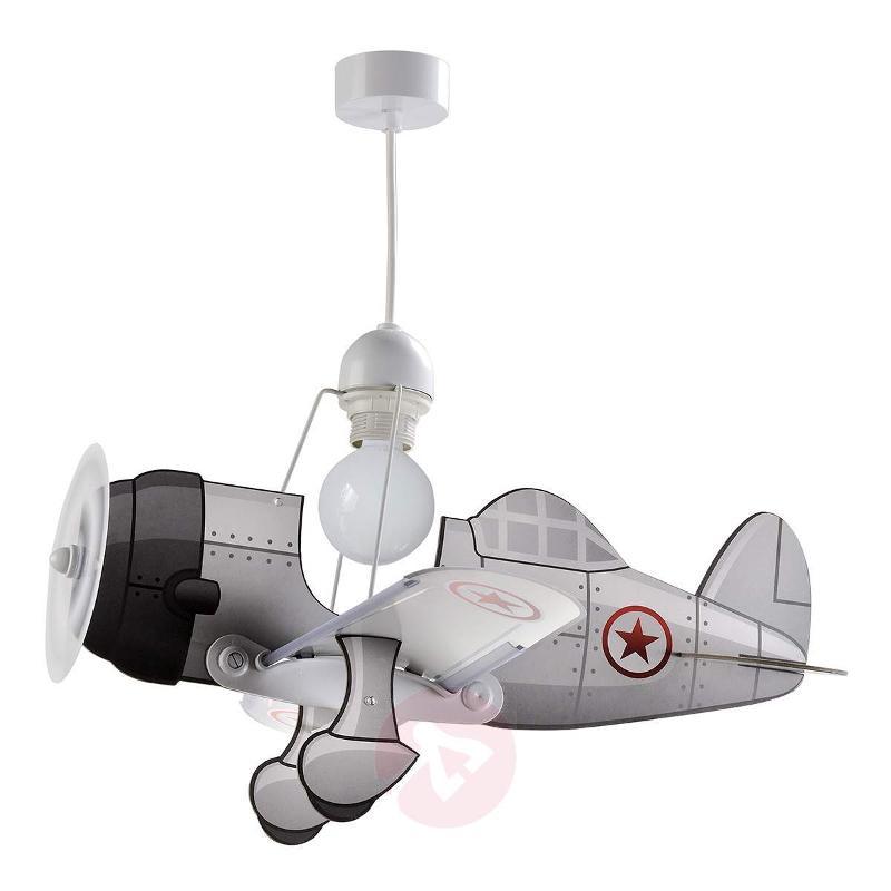 Airplane pendant light Airplane, grey - Pendant Lighting