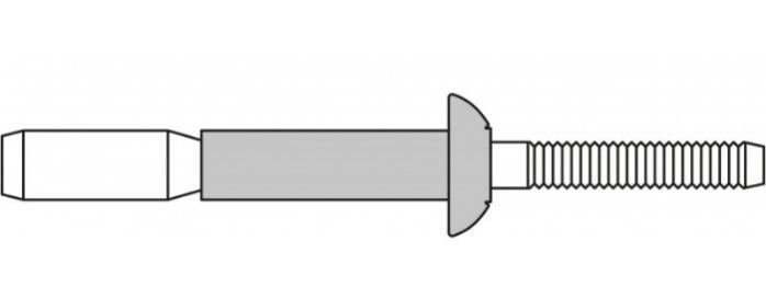 MEGA GRIP® (remaches ciegos) - Remache estructural de alta resistencia con área de fijación extra amplia