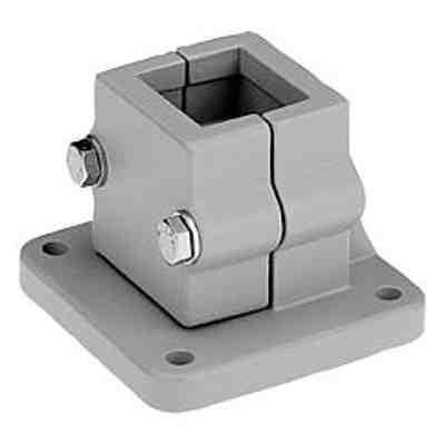 Bride de pied en aluminium - Système d'assemblage de tube