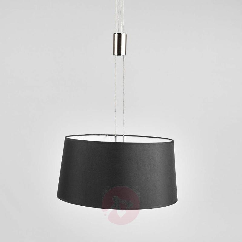 Black Wanja LED pendant light - Pendant Lighting