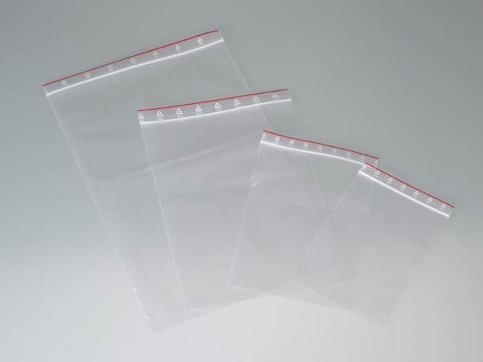 Sachet de conditionnement avec fermeture à pression - LDPE, translucide, transport d'échantillons