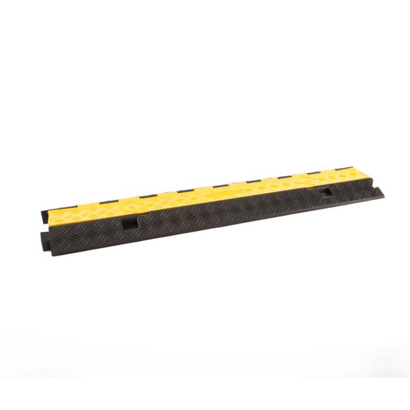 Kabelbrücke 2 Kanälen schwarz/gelb 980x255x45mm - Kabelschutz