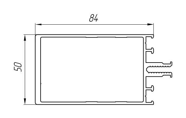 Aluminum Profile For Ventilated Facades Ат-914 - Construction aluminum profile